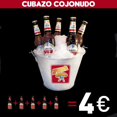 Cubazo Cojonudo Superbestia 4 Botellines Amstel = 4€