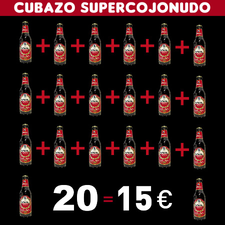 Cubazo Cojonudo Superbestia 20 Botellines Amstel = 20€